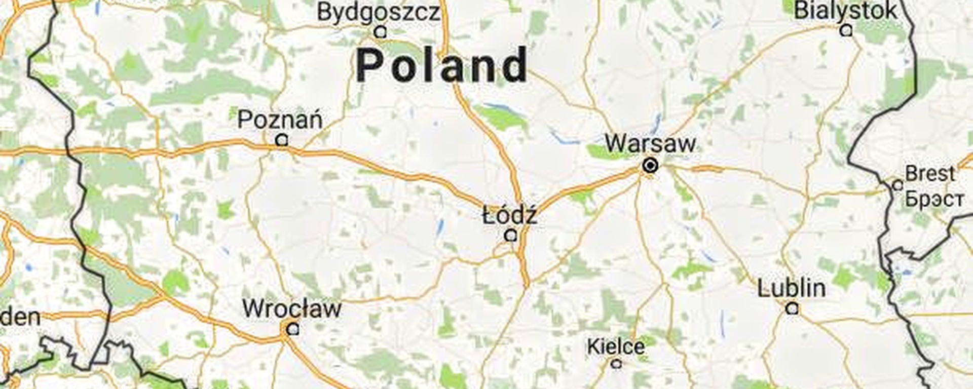 Southern Poland Map.Overhere Beskidy Mountains In Southern Poland