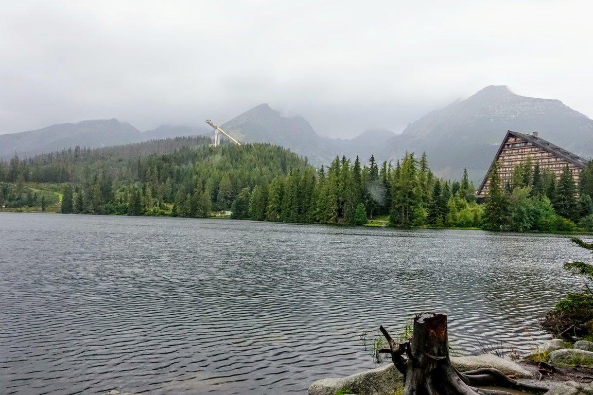 Štrbské Pleso on a rainy day, Tatra mountains, Slovakia