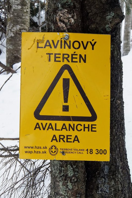 Avalanche sign - Chopok, Slovakia