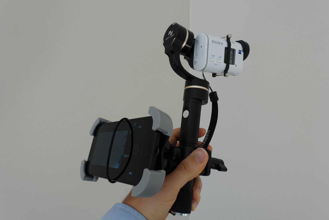 Sony X1000v with gimbal and phone