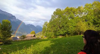 Hiking in French Alps near Annecy