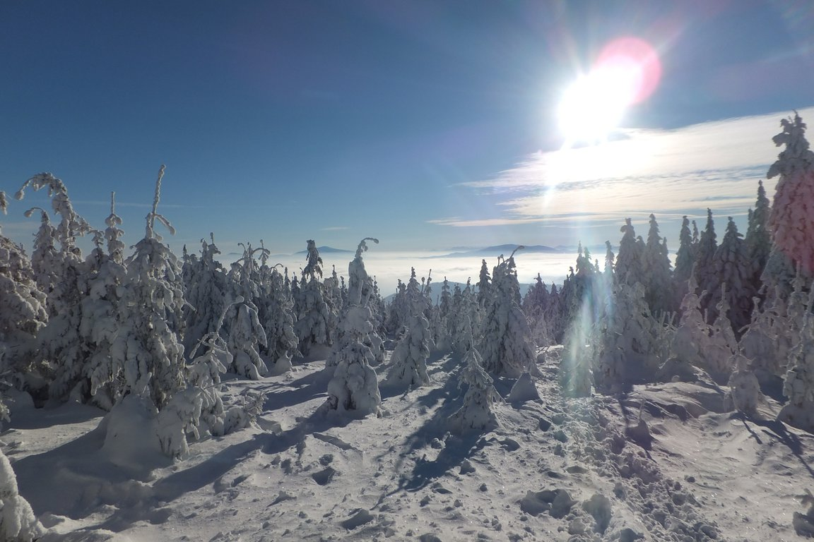 Szczyrk ski resort, Beskid mountains, Poland