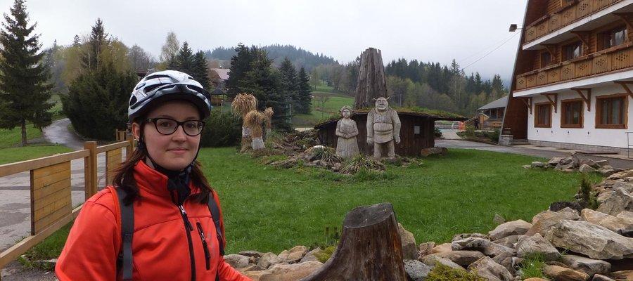 Mountain biking in Silesian Beskid mountains, Poland