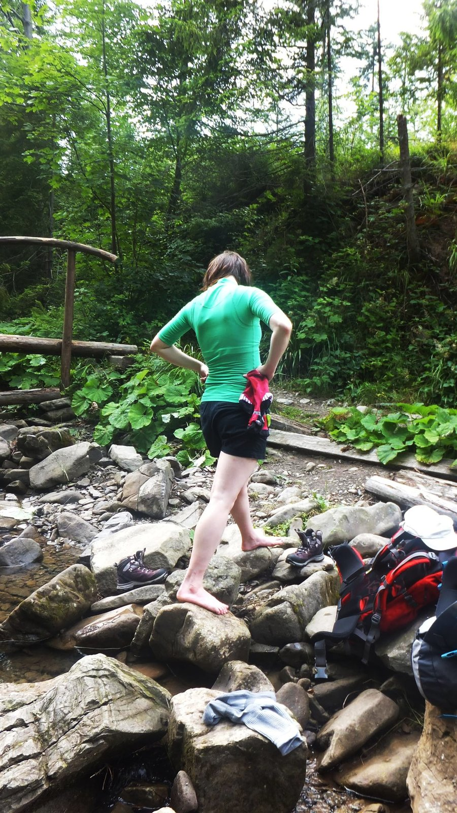 Hiking in Zywiec Beskid mountains, Poland