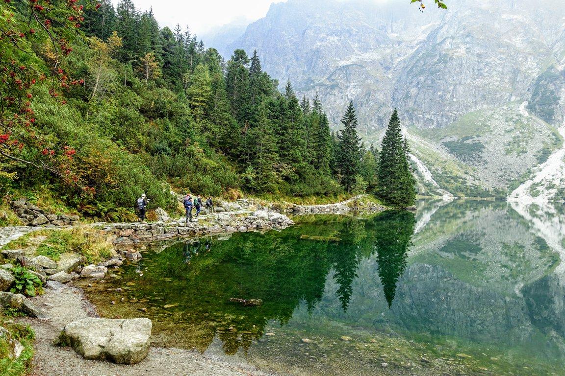 Hiking around Morskie Oko lake, Tatra mountains