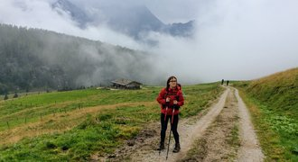 Hiking in Austrian Alps near Saalfelden