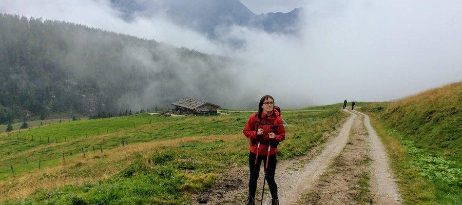 Hiking in Austrian Alps near Saalfelden