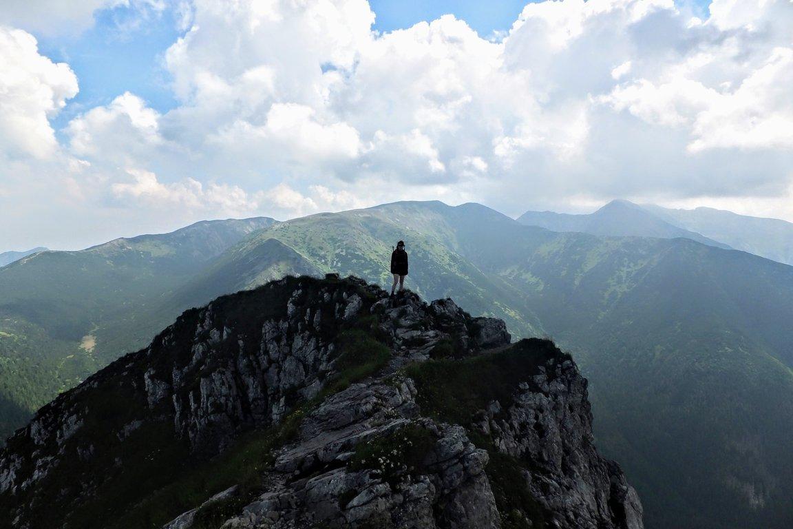 Hiking in Western Tatra mountains, Salatin, Slovakia