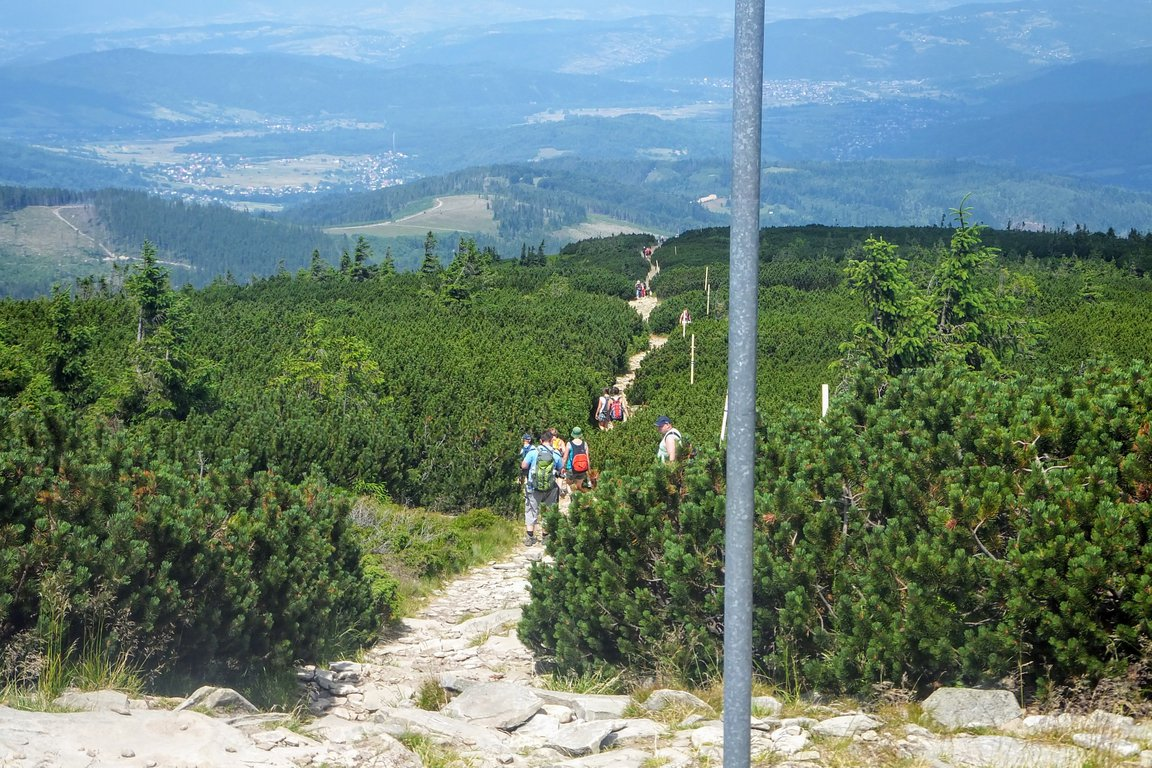 Hiking trail to Pilsko, Beskidy mountains, Poland