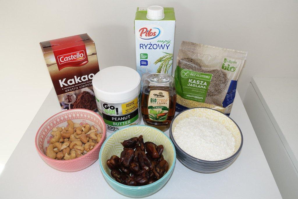 Ingredients for healthy vegan dessert