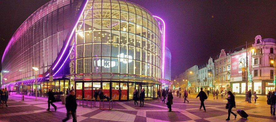 Katowice city at night
