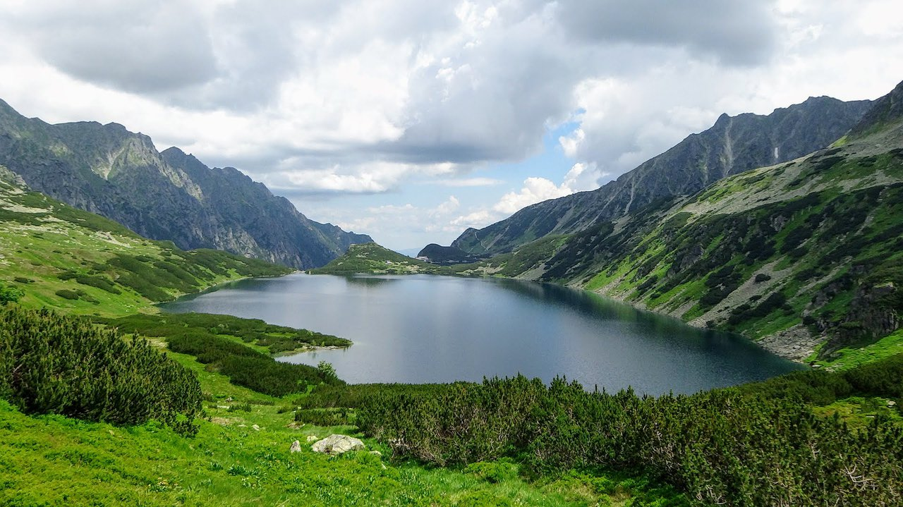 Lake in Tatra mountains, Poland