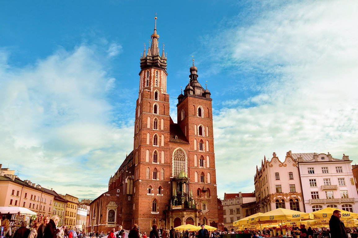 Main square in Cracow, Poland