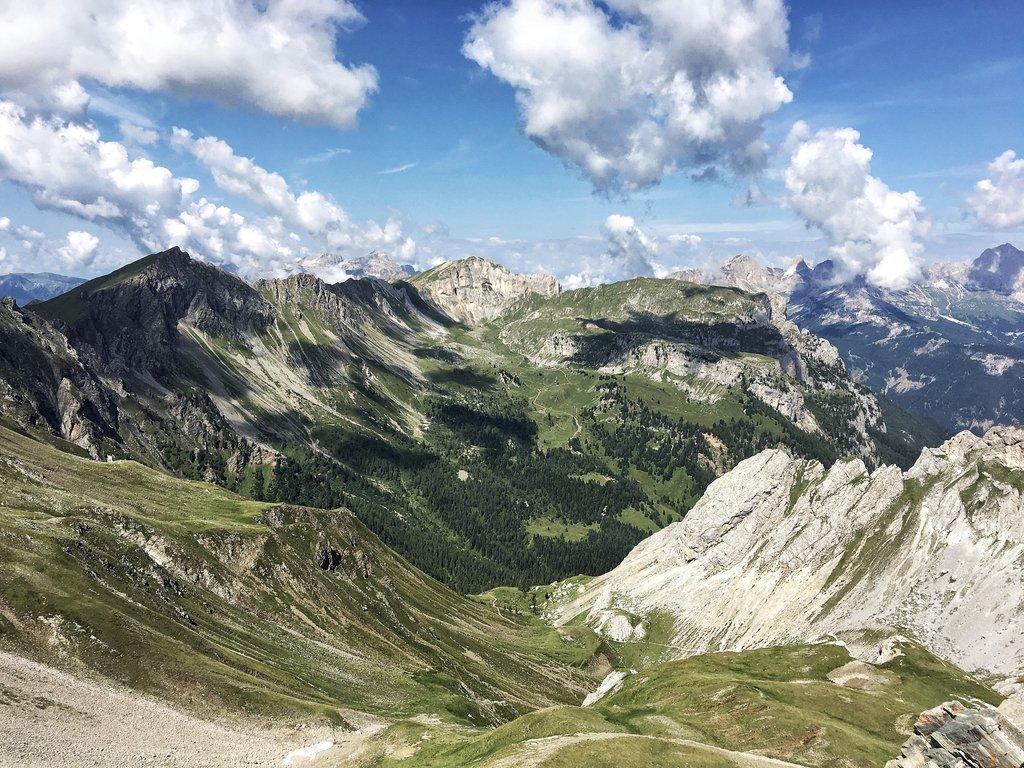 Moena mountain resort, Dolomites, Italy