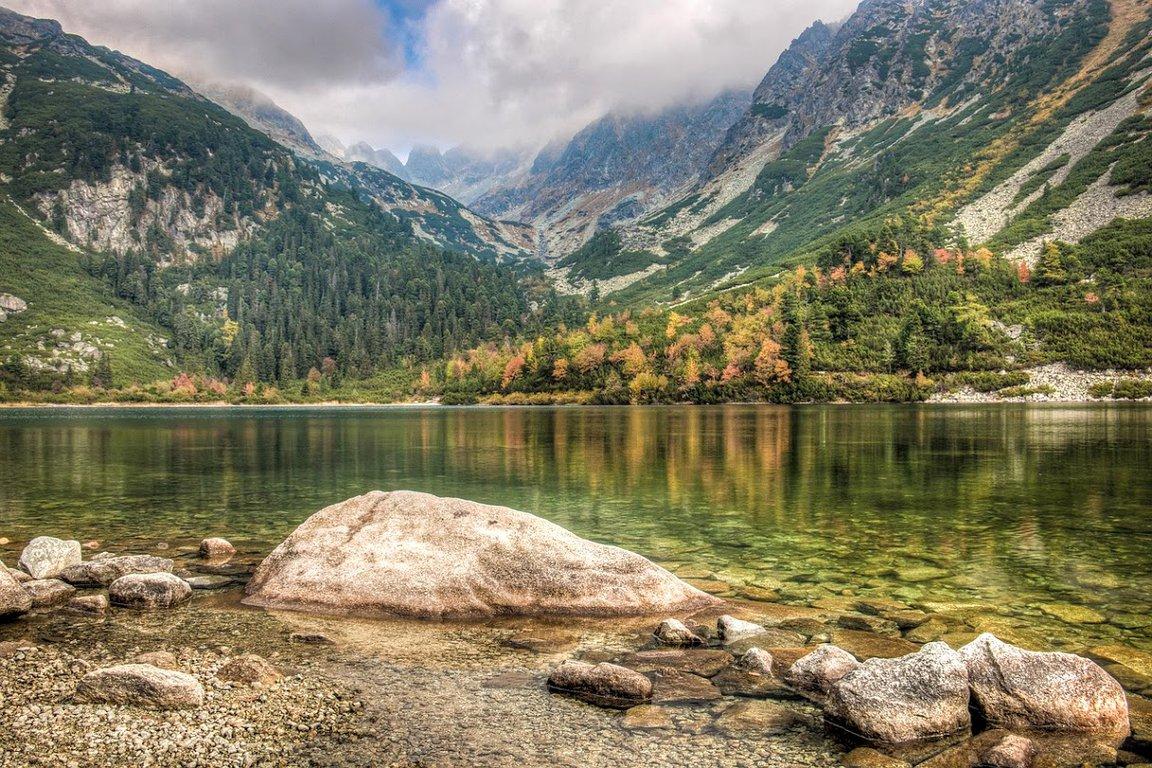 Morskie Oko lake in Tatra National Park, Poland