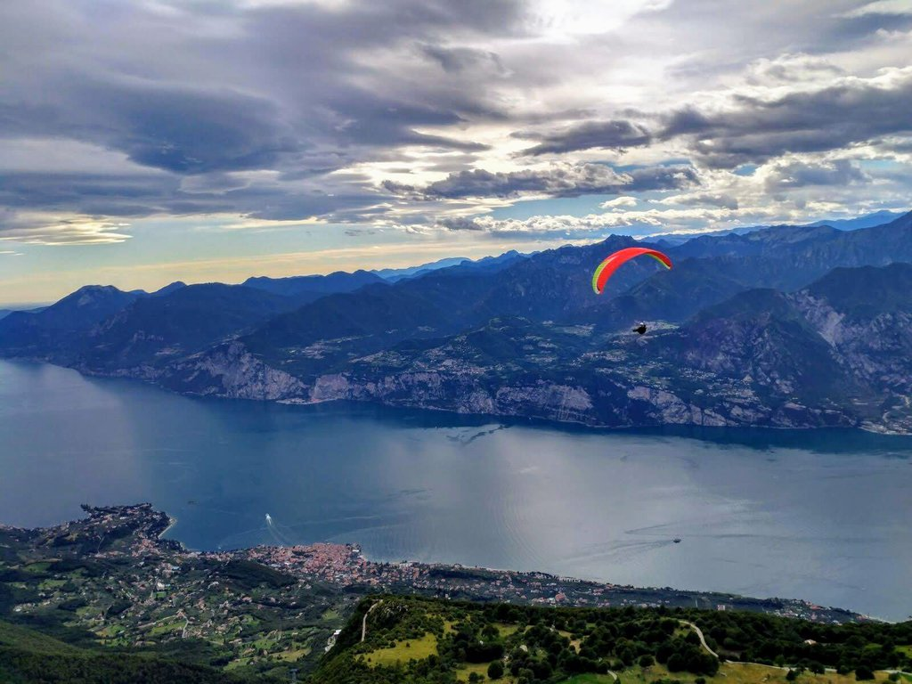 Paragliding over Garda lake