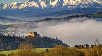 Beautiful Polish landscape - Tatra mountains seen from Pieniny