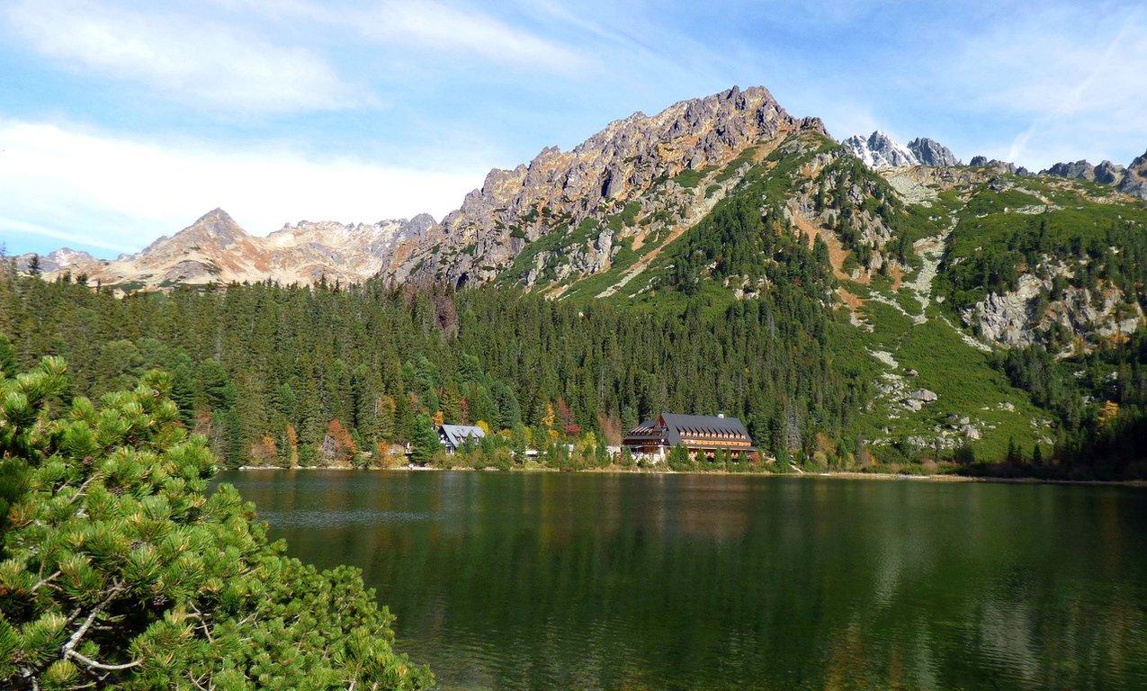 Popradské Pleso lake in Tatra mountains, Slovakia