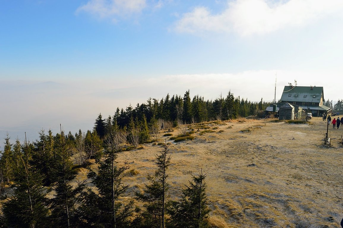 Silesian Beskid mountains in the south of Poland