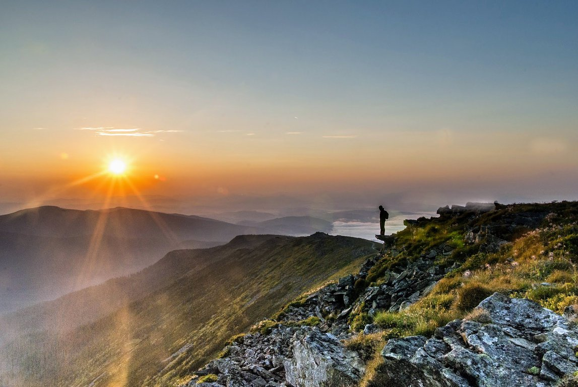 Sunrise in Babia Gora National Park, Poland
