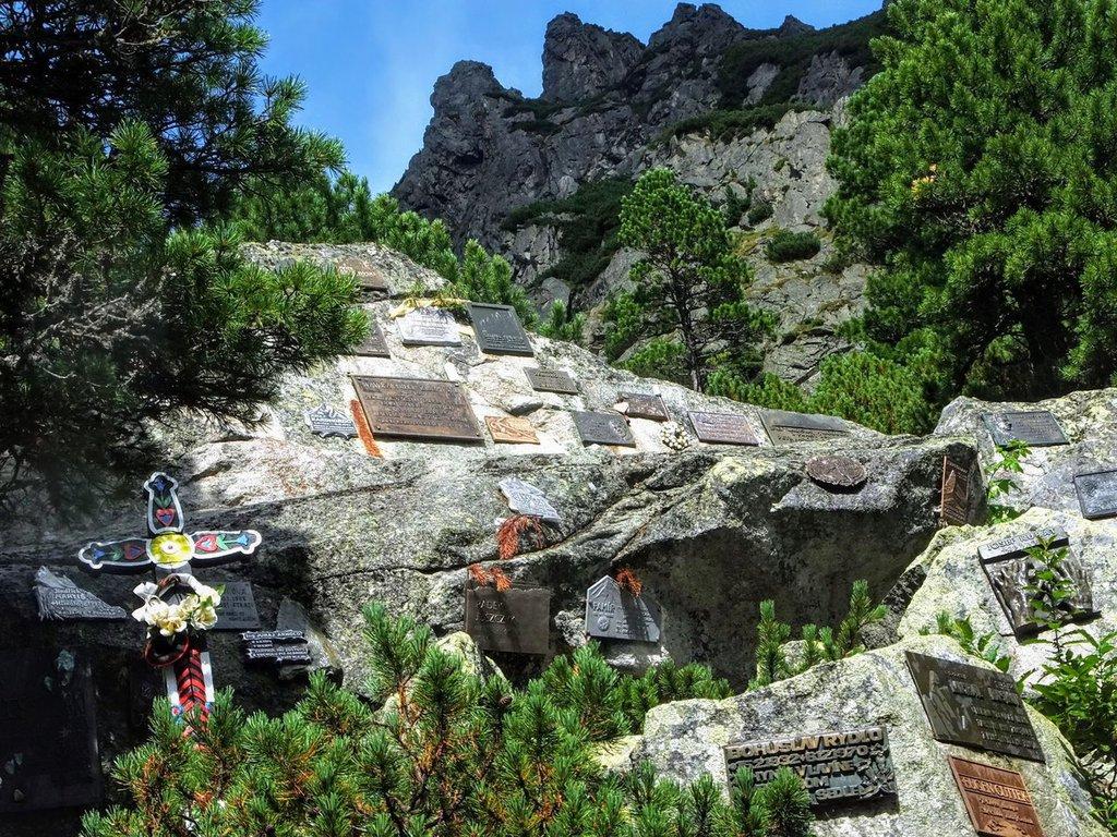 Symbolic Cemetery, Popradské Pleso, Tatra mountains in Slovakia