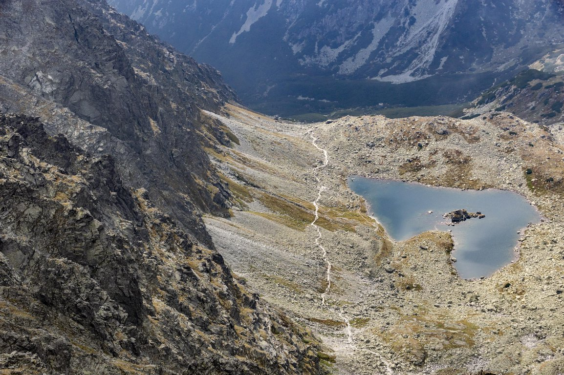 View from Rysy peak, Tatra mountains