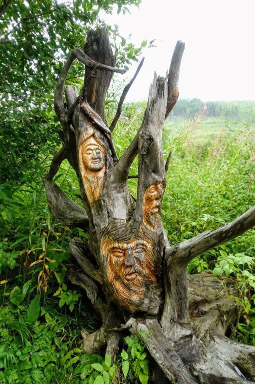 Wooden sculpture, Tatra mountains, Slovakia