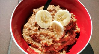 Super healthy breakfast - millet and banana