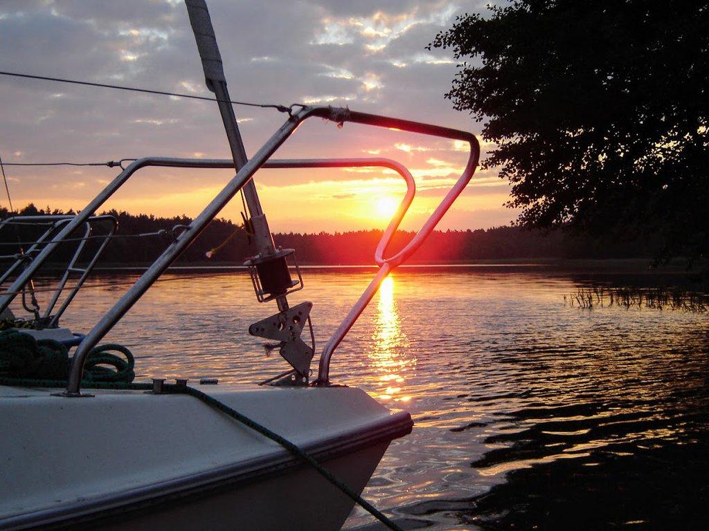 Sunset in Mazury Lake District, Poland